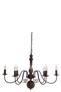 L&L Hanging lamp 8L E14 86x62x60 cm Christina Rust 3029449