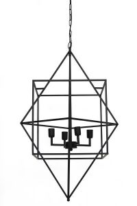 L&L Hanglamp 4L 66x107 cm Baula Matted Black 2903512