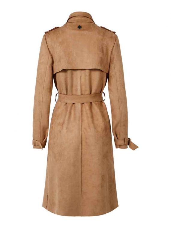 Haust Fashion Trench Coat Sand 191406 2