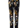 Haust Flower Printed Trouser Black 191204