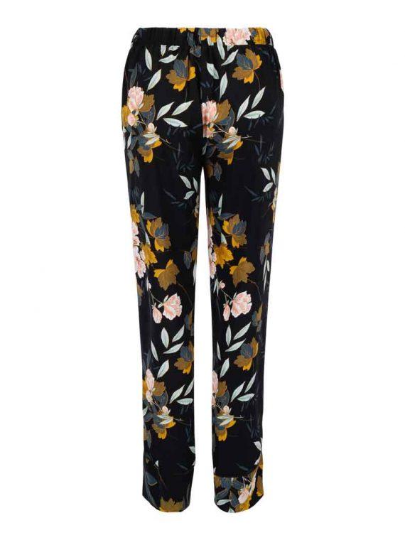 Haust Flower Printed Trouser Black 191204 2