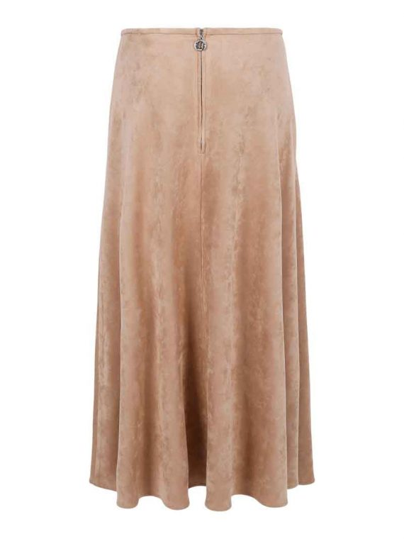 Haust Long Suede Skirt 191102 2