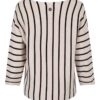 Haust Striped Knitted Pullover Sand 191730