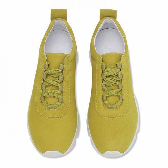 Shoe BIZ Space Ribbon Goat Suede Yellow B7928GS 2