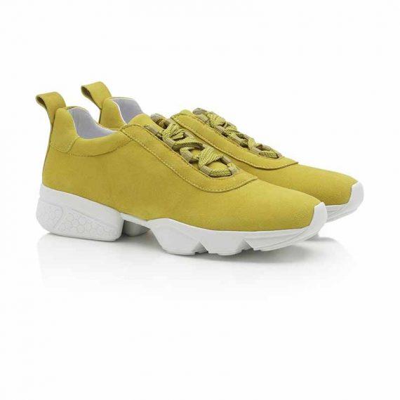 Shoe BIZ Space Ribbon Goat Suede Yellow B7928GS 3