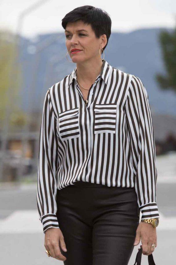 Karmamia Black Stripe Shirt 2