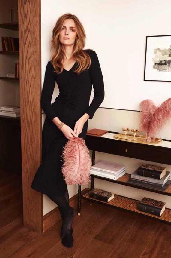 Katrin Uri Jolie V-Neck Dress Black 2