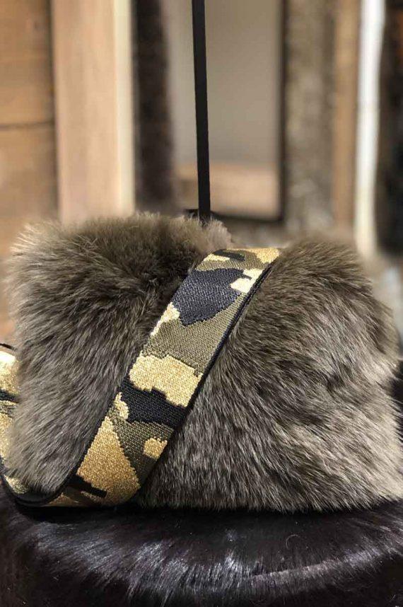 Cosy Concept Fur Vilma Bag Army 2