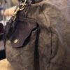 Campomaggi Borsone Canvas+Vacc Military Brown Stained Black Pr