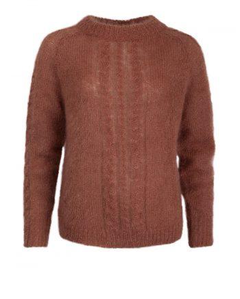 Johnny Love Ramona Mohair Sweater Brown