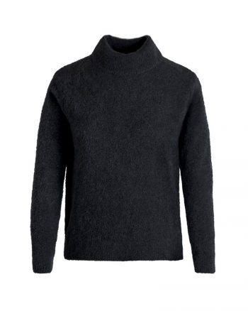 Johnny Love Reba Light Mohair Turtle Sweater Black