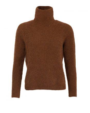Johnny Love Reba Light Mohair Turtle Sweater Coffee