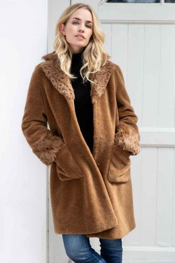 Amuse Shearling Coat Copper 5120