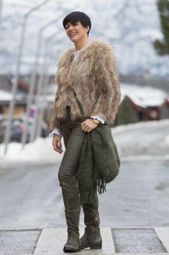 Ane Mone Fur Jacket Sand 711006