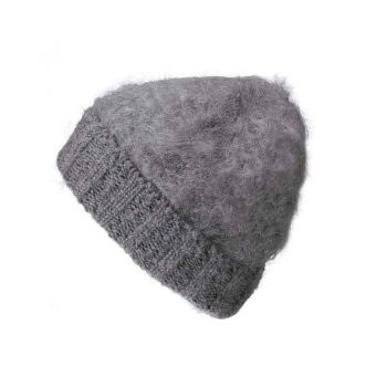 Balmuir Aurora Kid Mohair Beanie Grey 115