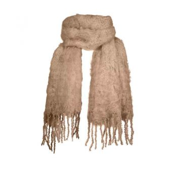 Balmuir Aurora Kid Mohair Scarf Almond