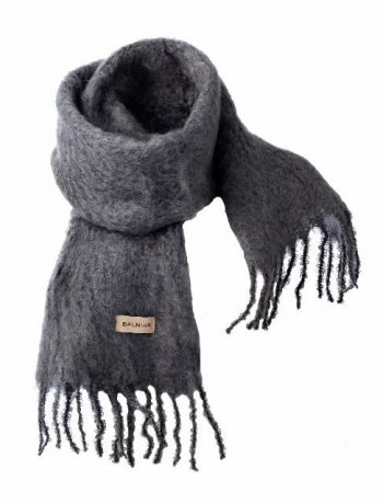 Balmuir Aurora Kid Mohair Scarf Grey 35x160