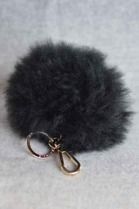 Balmuir Chamonix pom pom keyring, L, black/gold