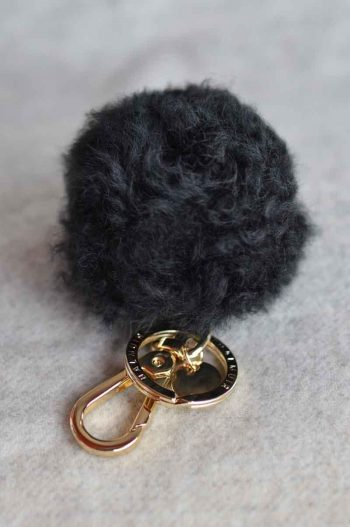 Balmuir Chamonix pom pom keyring, M, black/gold