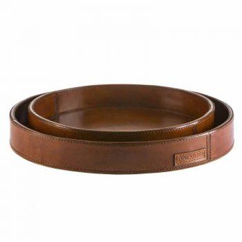 Balmuir Hamilton tray, M, cognac Ø30x4 cm