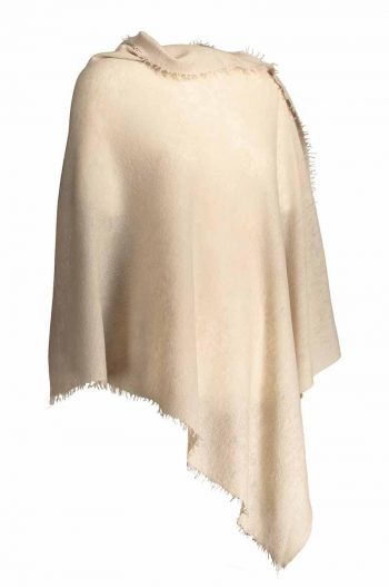 Balmuir Helsinki Poncho Light Taupe 100 % Cashmere