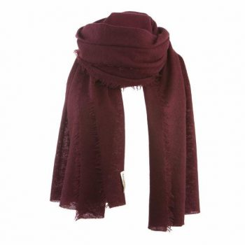 Balmuir Helsinki scarf Cashmere Burgundy