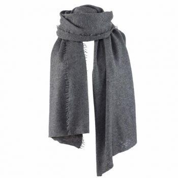 Balmuir Helsinki scarf Cashmere Dark Grey