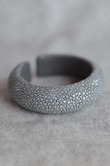 Balmuir Milan 20mm stingray bracelet, M, grey Stingray/genuine leather, curve, width 20mm