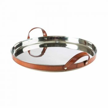 Balmuir Stirling Tray Round Cognac