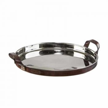 Balmuir Stirling Tray Round Dark Brown