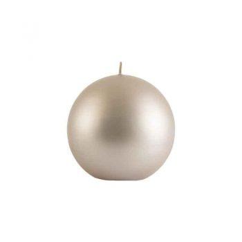 Balmuir Velvet ball candle, 10cm, sandshell