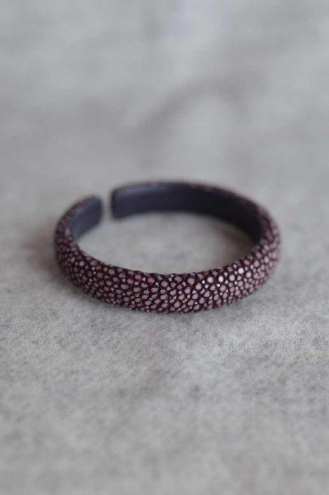 Balmuir Verona 10mm stingray bracelet, M, aubergine Stingray/genuine leather, flat, width 10mm