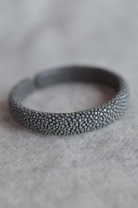 Balmuir Verona 10mm stingray bracelet, M, grey Stingray/genuine leather, flat, width 10mm