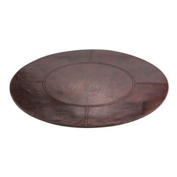 Balmuir Winston Table Mat Round Dark Brown
