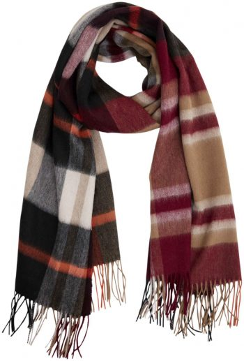 Bella Ballou Check It Out Scarf Brown/Orange