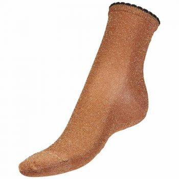 Bella Ballou Lurex Socks Copper AW18-6756