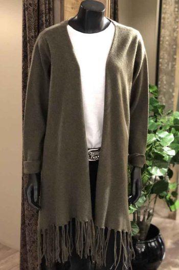 Brodie Iris Tassel Jacket Army Grn 1616-436
