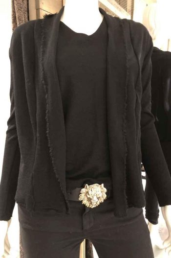 By Basics Short Cardigan Black