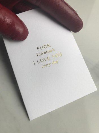 "Cardsome Kort ""Fuck Valentine's"" W74xH105mm"