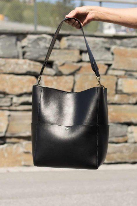 Cosbag Leather Bag Black 230