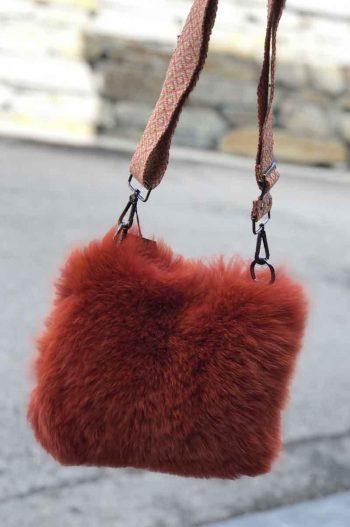 Cosy Concept Fur Vilma Bag Orange