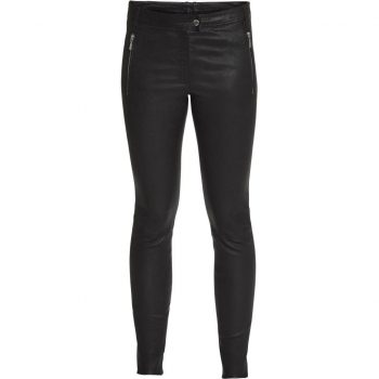 Depeche Pants black w/zipper pockets silver 12446