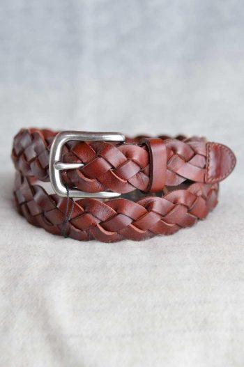 Haust Belt 3 cm weaved Brown B30434
