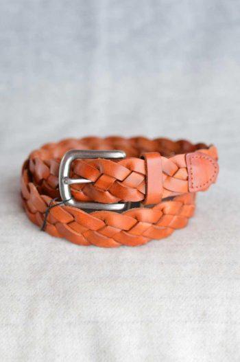 Haust Belt 3 cm weaved light brown/cognac B30434