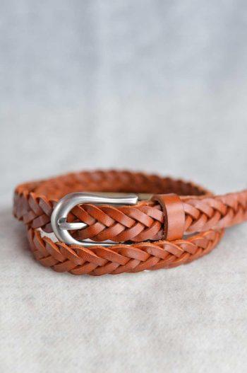 Haust Belt weaved 2 cm light brown/cognac B30488