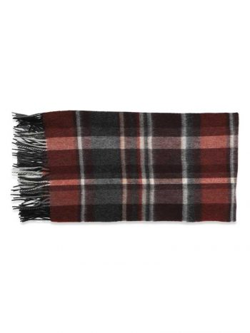 Haust Checked Scarf Rust 174903