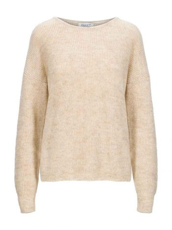Haust Mohair Lux Casual Pullover Light Sand
