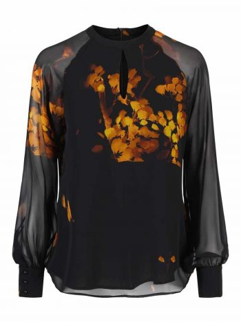 Haust Printed Flower Blouse Golden 186-805
