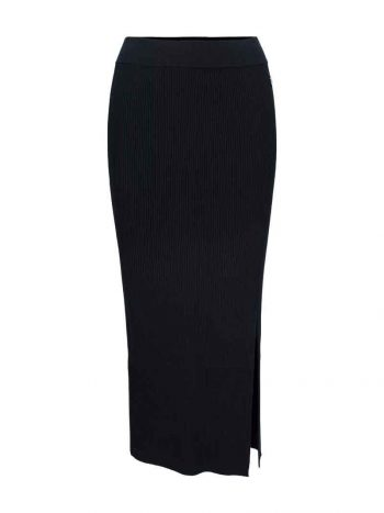 Haust Rib Knitted Skirt Black