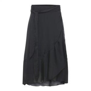 Karmamia Black Ruffle Wrap Skirt (short)
